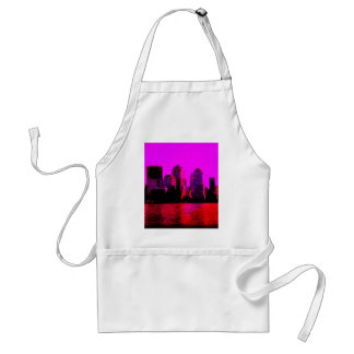 new york pink adult apron