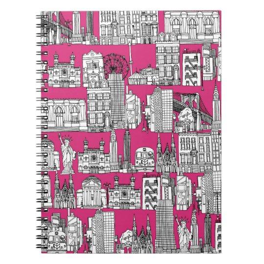 New York / pink Spiral Notebook
