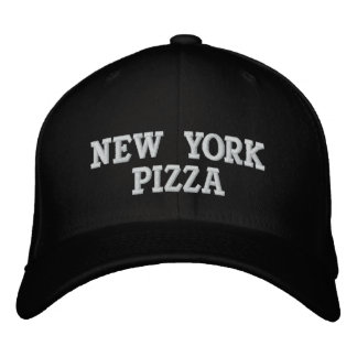 NEW YORK PIZZA EMBROIDERED BASEBALL HAT