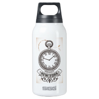 New York Pocket Watch Insulated Water Bottle