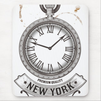 New York Pocket Watch Mouse Pad