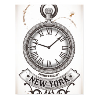 New York Pocket Watch Postcard