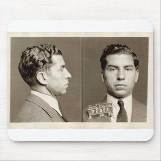 """New York Police Mugshot Charles """"Lucky"""" Luciano Mouse Pad"""