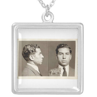 "New York Police Mugshot Charles ""Lucky"" Luciano Personalized Necklace"