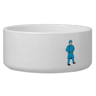 New York Policeman Vintage Standing Cartoon Bowl