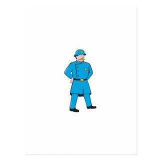 New York Policeman Vintage Standing Cartoon Postcard