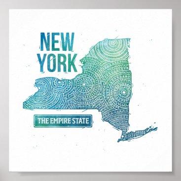 USA Themed New York Poster