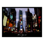 New York Poster Cityscape Times Square Night Print