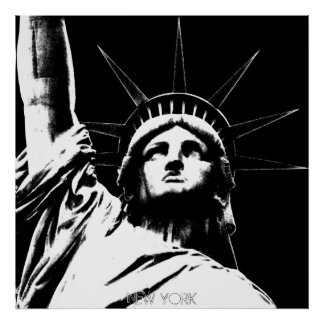 New York Poster Statue of Liberty NYC Souvenir