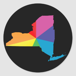 new york pride. classic round sticker