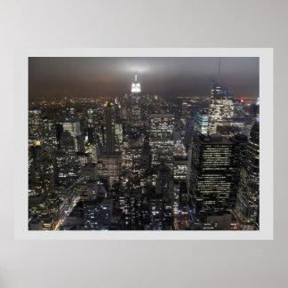 New York Print New York Manhattan Poster Cityscape