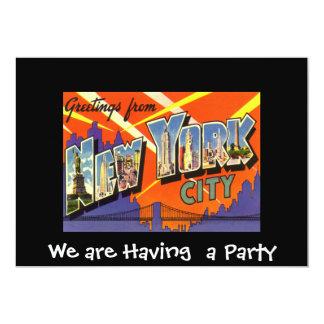 """New York Private Party Invitation 5"""" X 7"""" Invitation Card"""