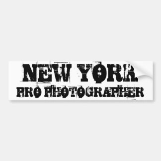 NEW YORK PRO PHOTOGRAPHER Bumper Sticker