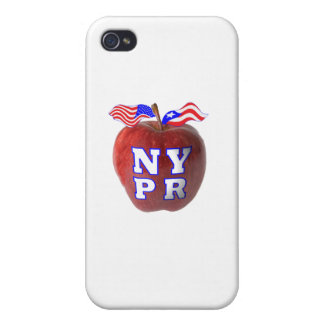 New York Puerto Rico symbols merged Cover For iPhone 4