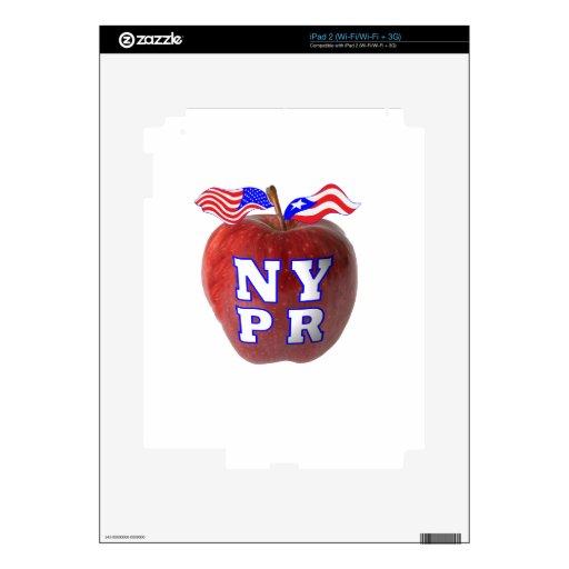 New York Puerto Rico symbols merged iPad 2 Skin
