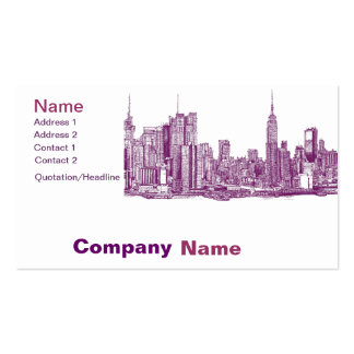 New York purple Double-Sided Standard Business Cards (Pack Of 100)