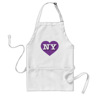 New York Purple Heart - Big Love Adult Apron