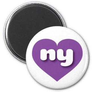 New York purple heart - mini love Magnet
