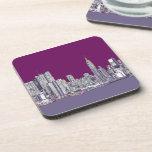 New York purple lilac Coasters