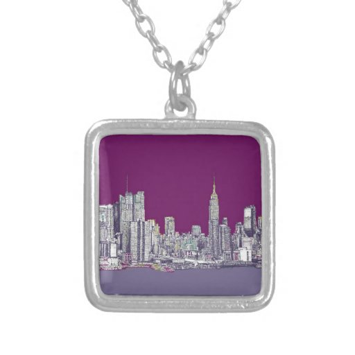 New York purple lilac Necklaces