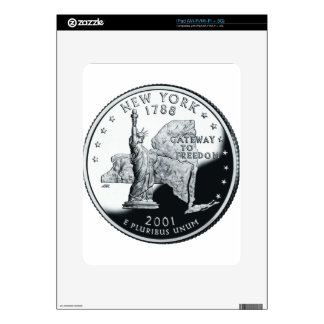 New York Quarter Decal For iPad