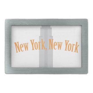 New York Rectangular Belt Buckles