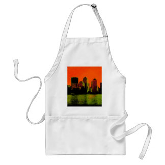 new york red adult apron