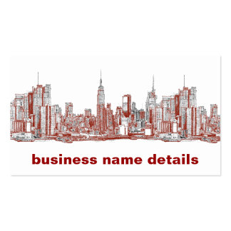 New York red black Business Cards