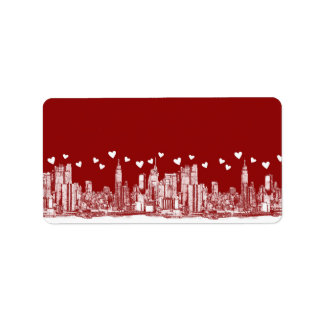 New York red hearts Label