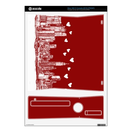New York red hearts Skin For The Xbox 360 S