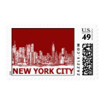 New York red maroon Postage Stamps