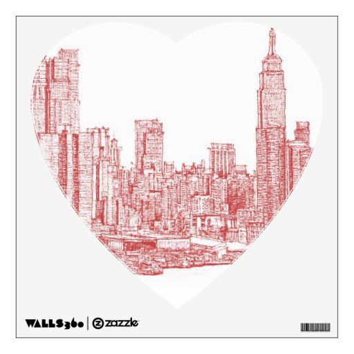 New York red pink Wall Skins