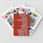 New York red skyline Poker Cards