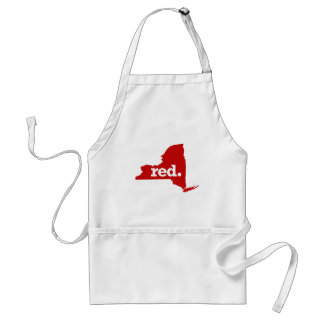 NEW YORK RED STATE ADULT APRON