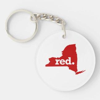 NEW YORK RED STATE KEYCHAIN