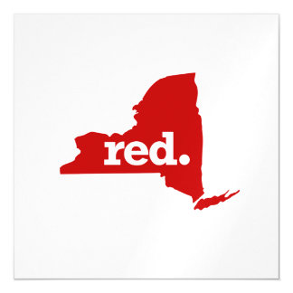 NEW YORK RED STATE MAGNETIC CARD