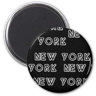 NEW YORK REPEAT 2 INCH ROUND MAGNET