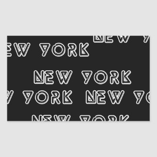 NEW YORK REPEAT RECTANGLE STICKERS