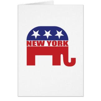 New York Republican Elephant Card