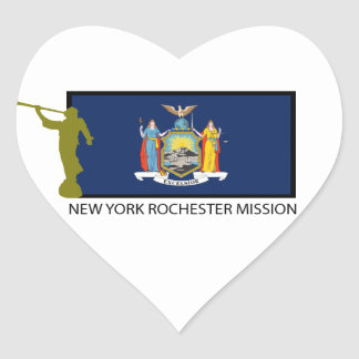 NEW YORK ROCHESTER MISSION LDS CTR HEART STICKER