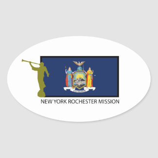 NEW YORK ROCHESTER MISSION LDS CTR OVAL STICKER