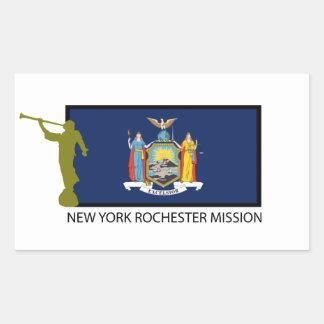 NEW YORK ROCHESTER MISSION LDS CTR RECTANGULAR STICKER