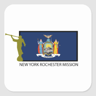 NEW YORK ROCHESTER MISSION LDS CTR SQUARE STICKER