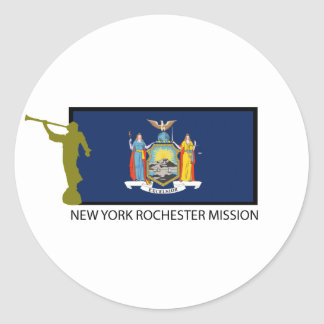 NEW YORK ROCHESTER MISSION LDS CTR CLASSIC ROUND STICKER