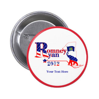 New York Romney and Ryan 2012 Button – Customize