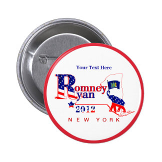 New York Romney and Ryan 2012 Button – Customize 2