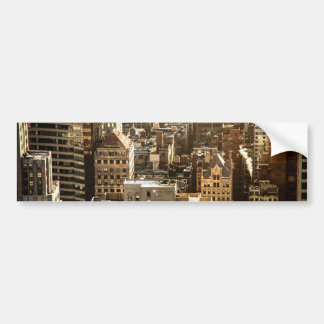 New York Rooftops - Skyscrapers in Sunlight Bumper Sticker