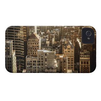 New York Rooftops - Skyscrapers in Sunlight iPhone 4 Cases