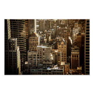 New York Rooftops - Skyscrapers in Sunlight Print