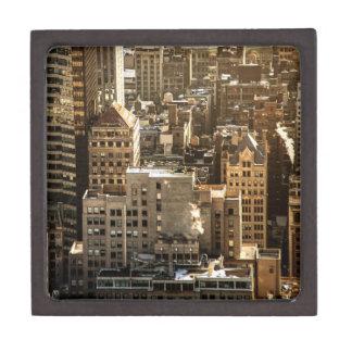 New York Rooftops - Skyscrapers in Sunlight Premium Trinket Box